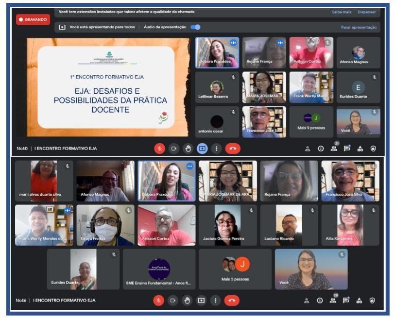 Secretaria de Educação promove Encontro Formativo EJA online