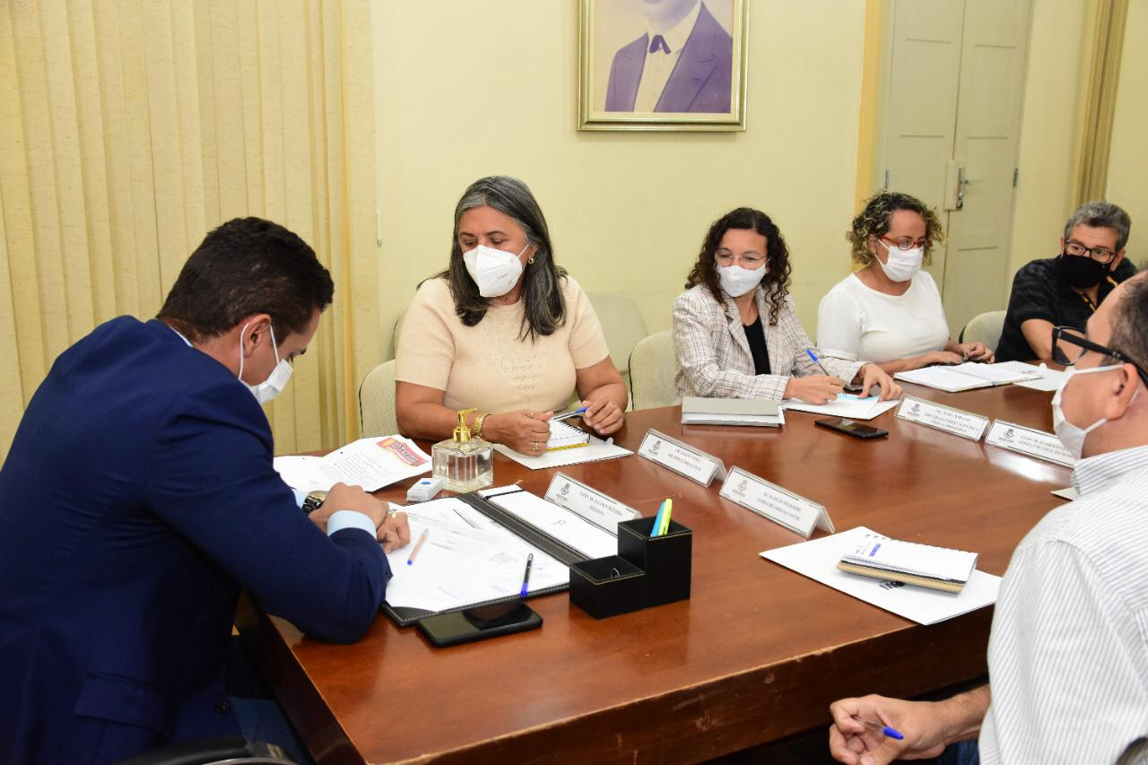 Prefeitura recebe pela 5ª vez Sindiserpum em 2021 para debater demandas antigas