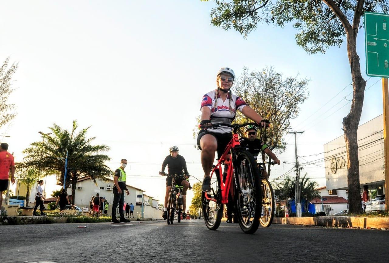Secretaria realiza simulação de trânsito para garantir segurança viária a pedestres e ciclistas