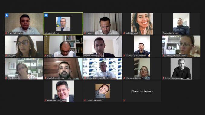 Comitê da Covid-19 se reuniu online nesta terça-feira, 24 - Foto: Reprodução